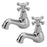 Tremercati Chrome VICT2 Victoria Pair of Bath Taps Full View