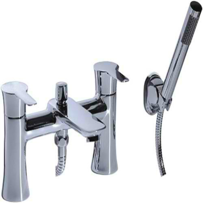 Mayfair FIS007 Fistral Chrome Dual Lever Bath Shower Mixer Front View