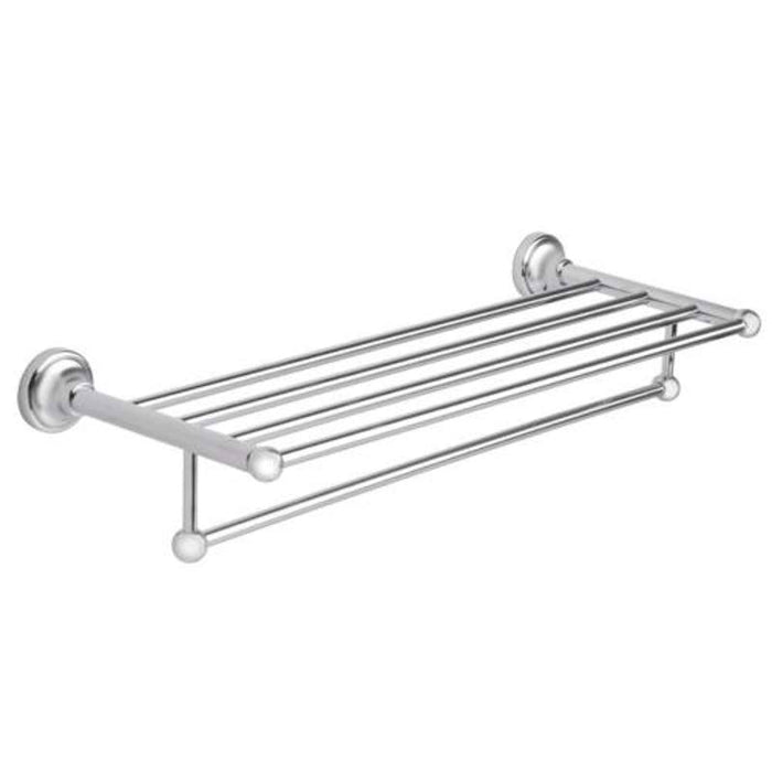Mayfair MAT403 Matrix Chrome Towel Shelf Front View