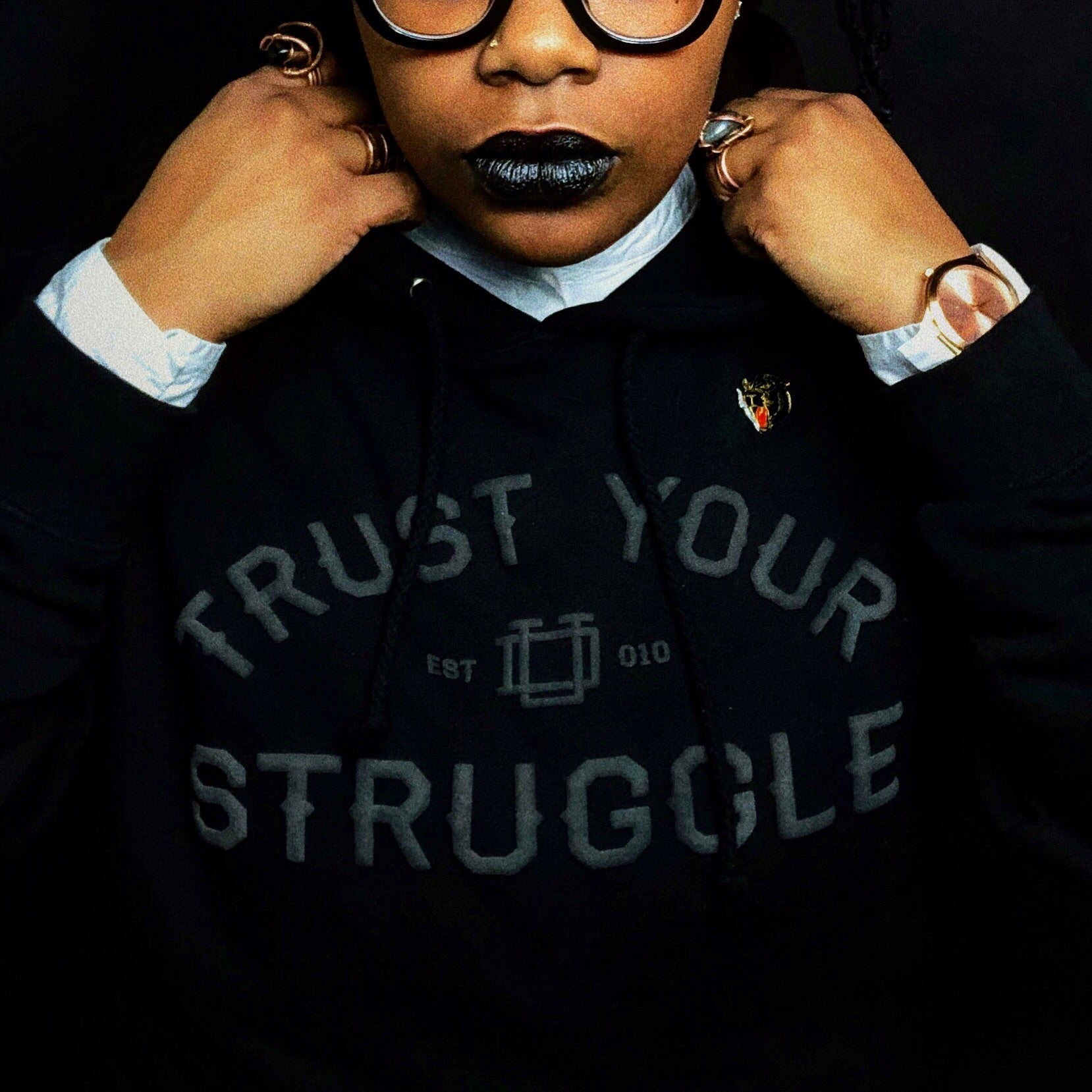 *Pre-order* Blackout Trust Your Struggle Hoodie