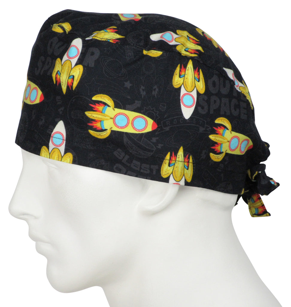 Surgical Scrub Caps Space Monkey