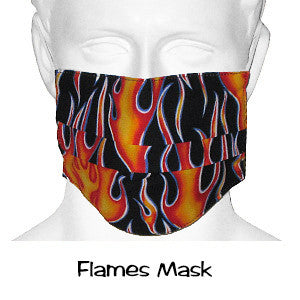 Designer Surgical Masks Flames