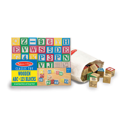 Melissa and Doug: Wooden ABC/ 123 Blocks