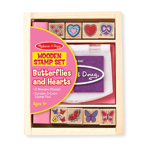 Melissa and Doug: Butterfly and Heart Stamp Set - Melissa and Doug - Little Funky Monkey - 1