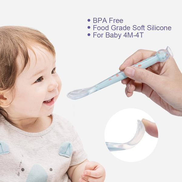 Baby Care Package, Baby's First Spoon BPA-free Soft Silicone