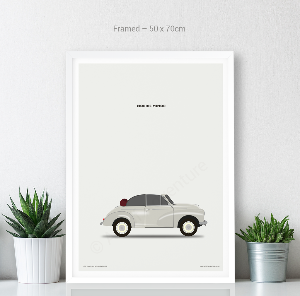 Morris Minor Portrait Convertable - Art of Adventure
