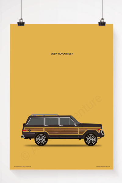 Jeep Wagoneer Portrait Brown - Art of Adventure