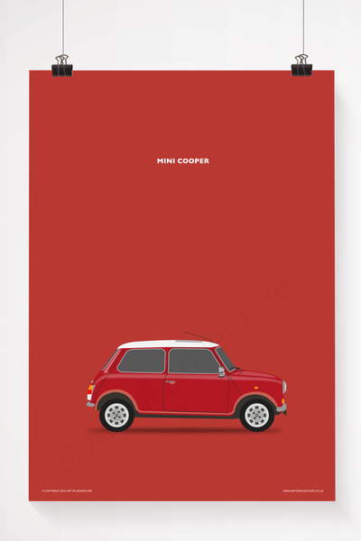 Mini Cooper Portrait Red - Art of Adventure