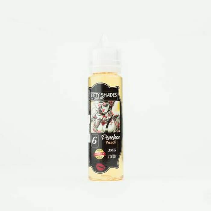 Penelope Peach by 50 Shades of Custard E-Juice - Cheap Vape Juice - East Coast Vape Distribution