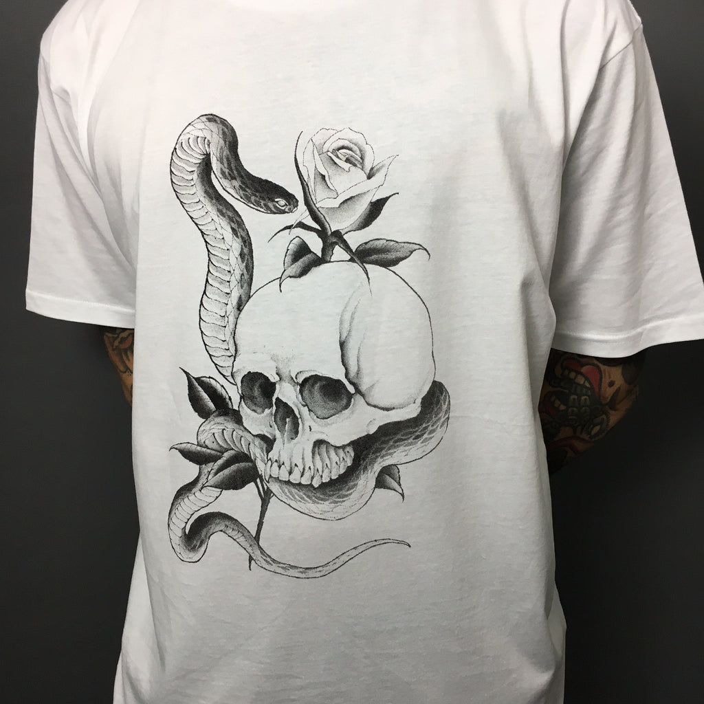 Snake and Skull Short Sleeve Tee by Davide