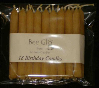 Soul Scents Beeswax Candles - 18 Birthday Candles