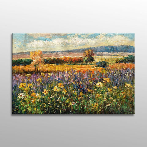 Large Oil Painting, Italian Tuscany Vinyard Landscape Oil Painting, Original Abstract Art, Contemporary Painting, Oil Painting Landscape