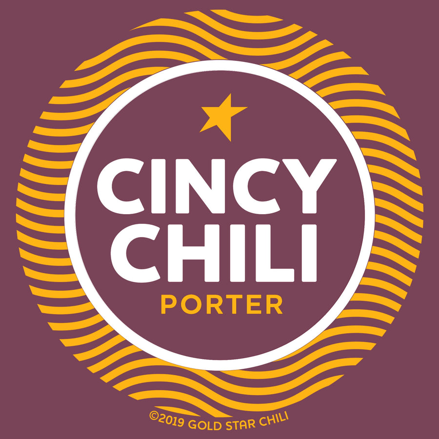 Cincy Chili Porter - Gold Star Chili Beer T-shirt