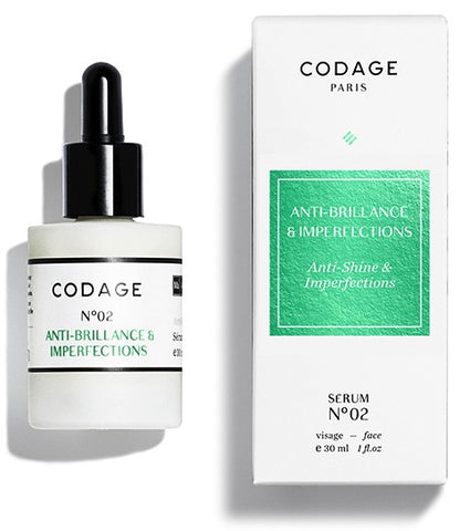 CODAGE SERUM N°02 ANTI-SHINE & IMPERFECTIONS 控油修復精華