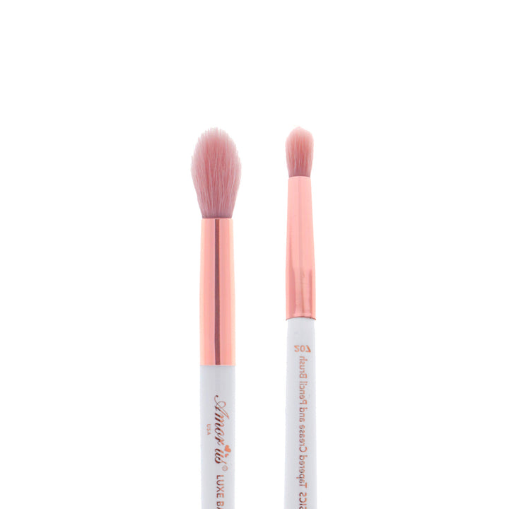 Amorus USA Luxe Basics Tapered Crease and Pencil Shadow Brush #207 Amor us eyeshadow double-ended multi-purpose eye vegan cruelty free synthetic makeup brush