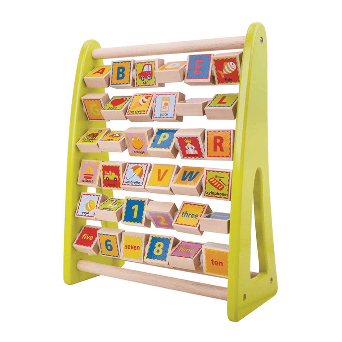 Tooky Toy Wooden Alphabet Abacus