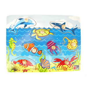 Sea Animal Peg Puzzle