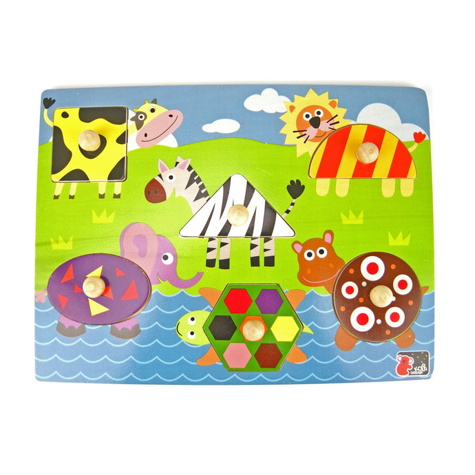 Peg Puzzle - Shape Animal