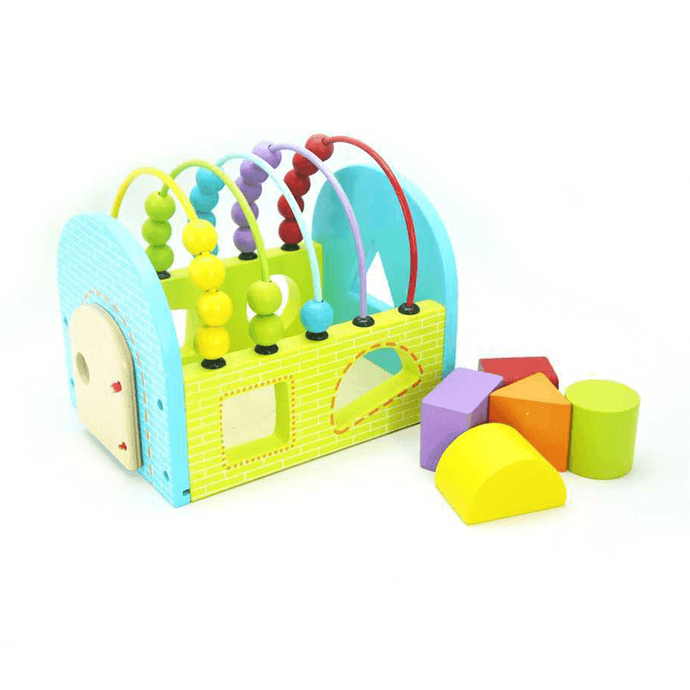 Shape Sorting House With Abacus Kaper Kidz