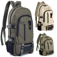 Men's Backpack Vintage Travel Canvas Leather Backpack - Z16 Apparel