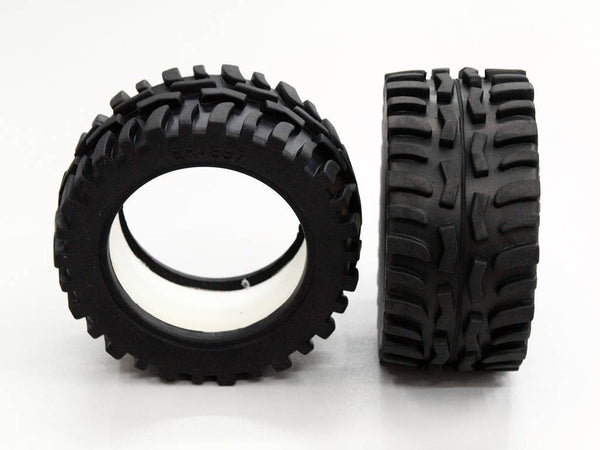 Traxxas 1/16 Mini E-Revo, Mini Summit Front/Rear Rubber Radial Tire With Insert (40G) (Offroad Dirt Hawg Pattern) - 1Pr GPM Optional