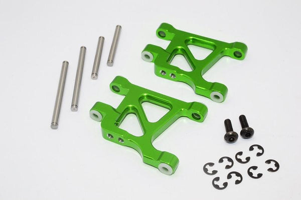 Tamiya TL01 / GF01 / WILD WILLY 2 Aluminum Rear Lower Arm - 1Pr Set Green