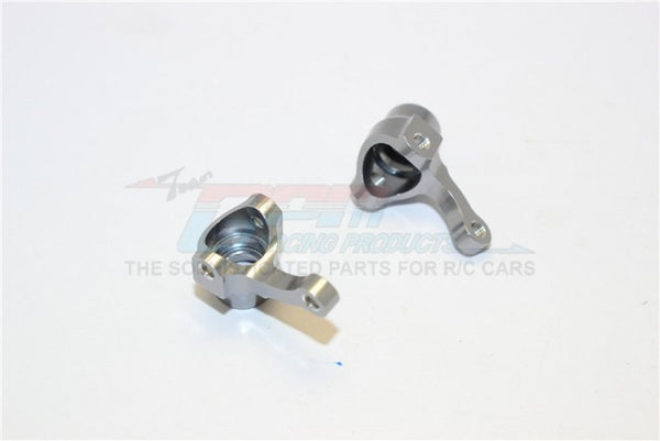 Kyosho Mini Inferno Aluminum Front Knuckle Arm - 1Pr Gray Silver