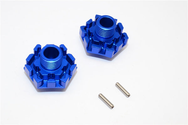 Traxxas XO-01 Supercar Aluminum Wheel Hex Claw (0mm) - 2Pcs Blue