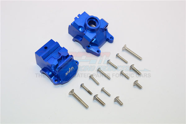 Traxxas XO-01 Supercar / Deegan 38 Fiesta ST Rally Aluminum Front Gear Box - 2Pcs Set Blue