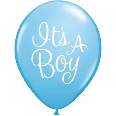 "Blue ""It's a Boy"" Baby Shower Balloons Pkt 6 - This Little Party"