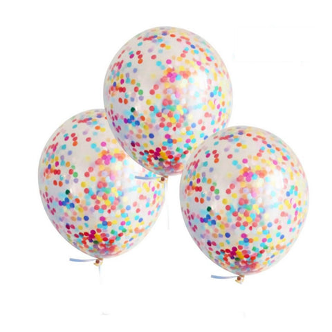 Confetti Balloons Rainbow 3 pkt - This Little Party