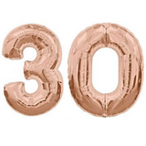 "30 Number Balloons Rose Gold 100cm (40"") - This Little Party"