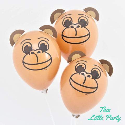 Jungle Monkey Balloons - This Little Party