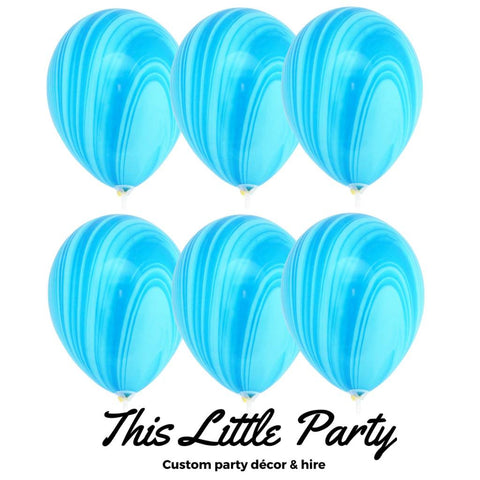 Blue Marble Balloons Pkt 6 - This Little Party