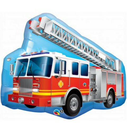 Fire Truck Balloon 91cm - This Little Party
