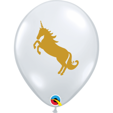 Gold Unicorn Balloons - 6pk - This Little Party