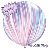 Giant Unicorn Pastel Marble Balloon - This Little Party