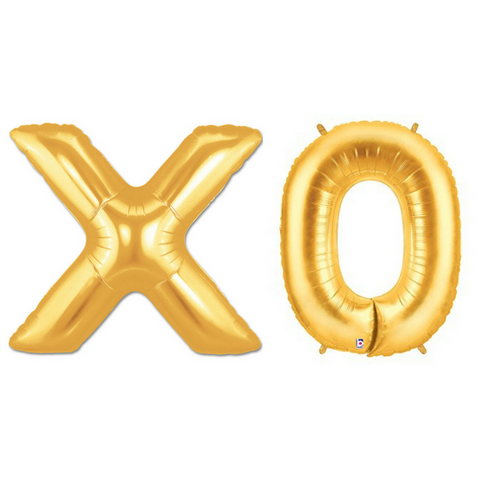 XO Gold 100cm Megaloon Foil Balloons - This Little Party
