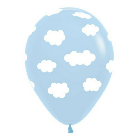 Light Blue Cloud Balloons 6 Pack - This Little Party