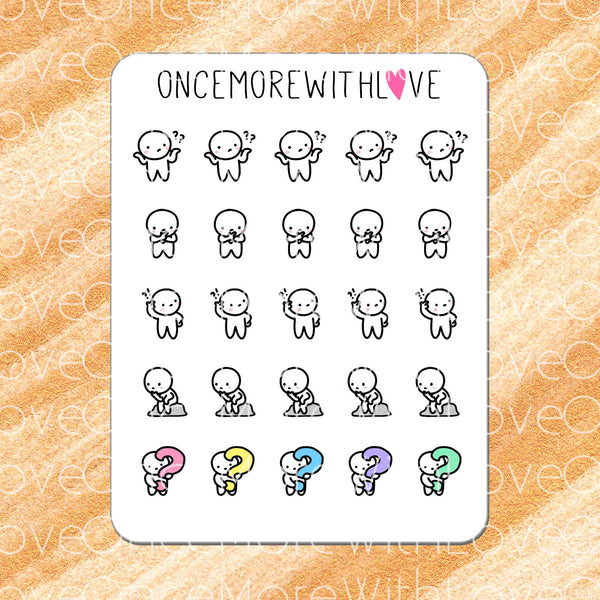 M276 - HUH?? I'm So Confused! Thinking Munchkin Planner Stickers