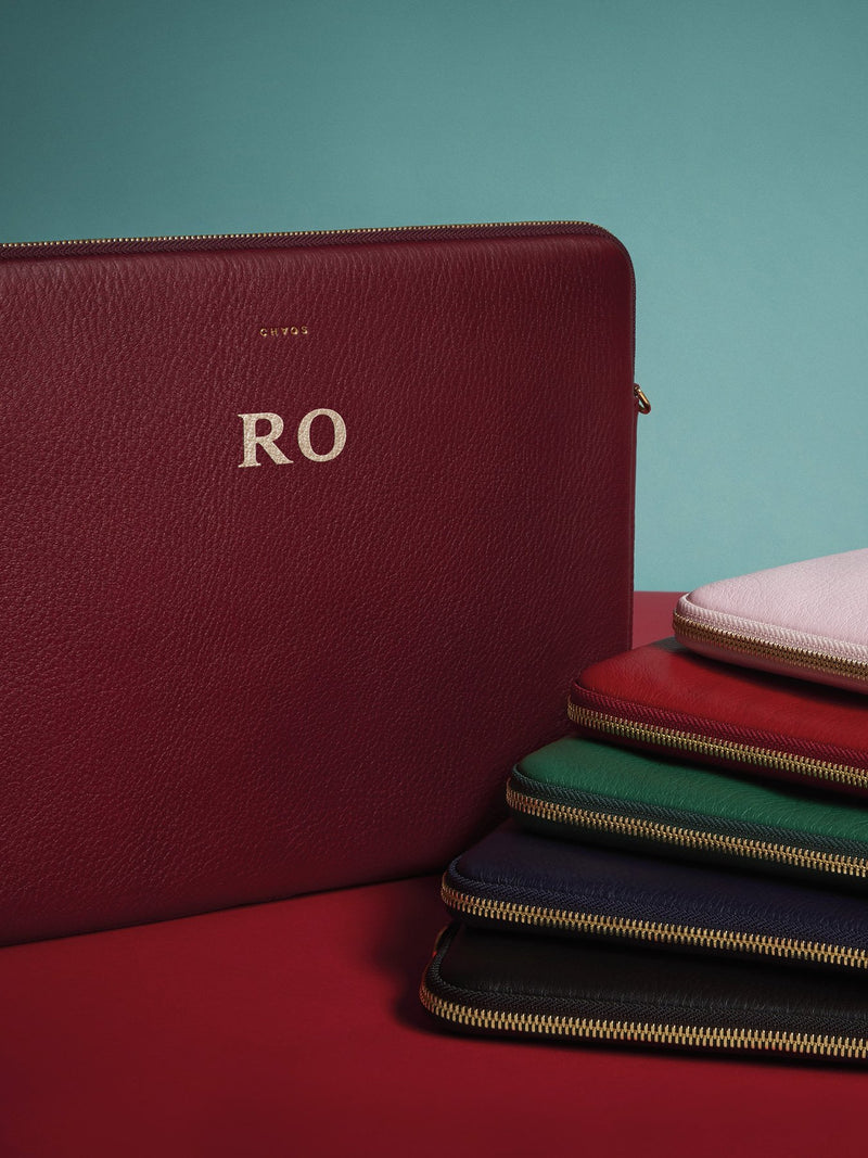 Customised Leather Laptop Cover