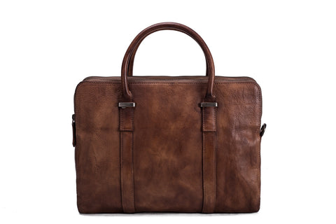 Vintage Vegetable Tanned Leather Briefcase