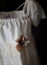 Tilly Blush lace and silk Flower Girl Dress
