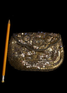 Vintage 1920s Gold Sequin Beaded Purse