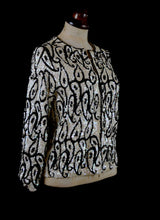 Vintage 1950s Monochrome Sequin Jacket