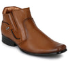 Men Tan High Ankle Formal Slip On & Chain Zipper Shoes 277