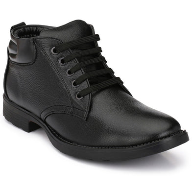 Mactree Men Premium PU Mid Top Boots 2805