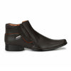 mens brown side buckle high ankle office wear shoes