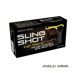 Anglo Arms high velocity folding slingshot with wrist grip