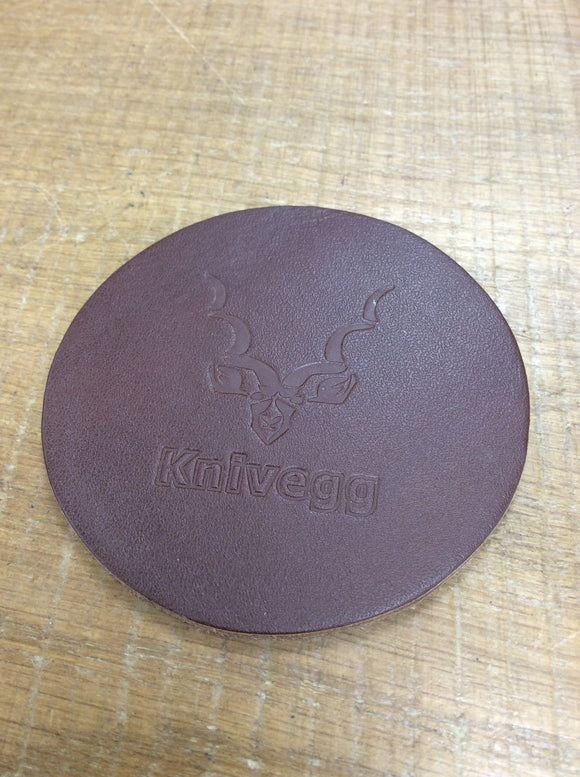 Set of 4 leather knivegg coasters
